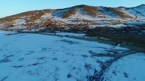 Lago Baikal en invierno metrajes