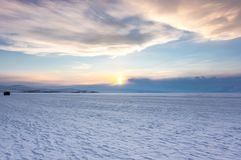 Lago Baikal in inverno fotografia stock