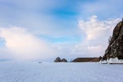 Lago Baikal in inverno immagine stock libera da diritti