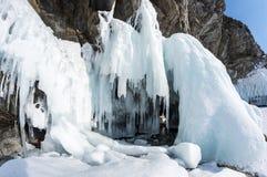 Lago Baikal in inverno fotografie stock