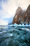 Lago Baikal no inverno imagens de stock royalty free