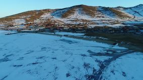 Lago Baikal no inverno filme