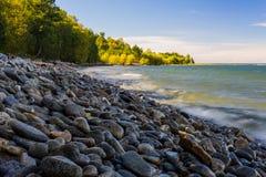 Lago Baikal no outono Foto de Stock