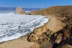Lago Baikal Roccia di Shamanka fotografie stock libere da diritti