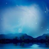 Lago bajo las estrellas Imágenes de archivo libres de regalías