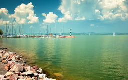 Lago Balaton Foto de Stock Royalty Free