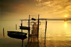 Lago Balaton Fotos de archivo
