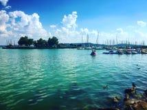 Lago Balaton imagens de stock
