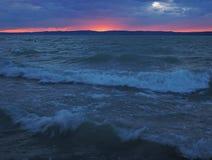 Lago Balaton em Hungria Fotos de Stock