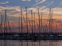 Lago Balaton em Hungria Fotos de Stock Royalty Free