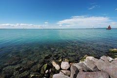 Lago Balaton en Hungría Imagenes de archivo
