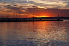 Lago Balaton en Hungría Fotografía de archivo