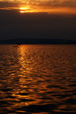 Lago Balaton no anoitecer 2. Imagem de Stock Royalty Free
