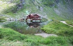 Lago Balea en Rumania foto de archivo