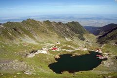 Lago Balea in Fagaras Fotografie Stock Libere da Diritti