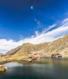 Lago Balea nella fine dell'estate 2012 Fotografia Stock Libera da Diritti