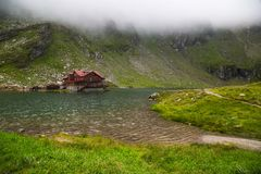 Lago Balea, Romania Immagini Stock
