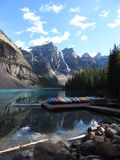 Lago banff Alberta Canadá moraine fotografia de stock royalty free