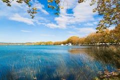 Lago Banyoles Foto de Stock Royalty Free