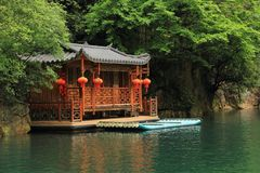 Lago Baofeng, la riserva naturale Zhangjiajie, Cina fotografia stock