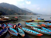 Lago, barco Imagen de archivo