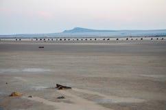 Lago Baskunchak en Rusia imagen de archivo
