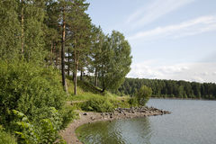 Lago beach Fotografie Stock
