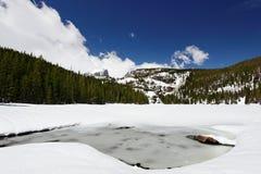 Lago bear en parque nacional de la montaña rocosa Fotografía de archivo