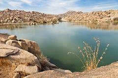 Lago beauty en Hampi Imágenes de archivo libres de regalías