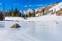 Lago Bellamy congelado encima Imágenes de archivo libres de regalías