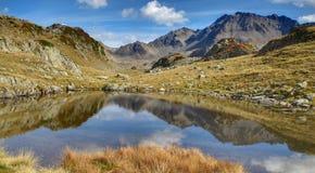 Lago Belledonne fotografie stock