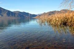 Lago Benmore & Raupo, Otago, Nova Zelândia foto de stock royalty free