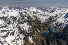 Lago Berbellino y gama máxima de Torena, Orobie, Italia Imagenes de archivo