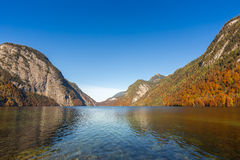 Lago Berchtesgaden, Germania Konigssee Fotografia Stock