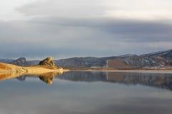 Lago bianco Fotografie Stock Libere da Diritti