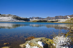 Lago Bianco. At Passo Gavia in Upper Italy Stock Photo