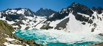 Lago bianco - alpes francesi Fotografia Stock