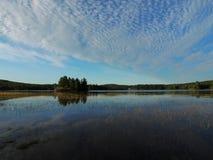 Lago bianco, Provincia del Quebec, Canada Fotografie Stock