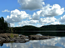 Lago bianco, Provincia del Quebec, Canada Immagine Stock