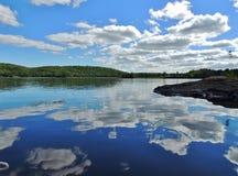 Lago bianco, Provincia del Quebec, Canada Immagini Stock