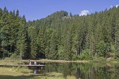 Lago Bichler in montagne di Mangfall Fotografia Stock Libera da Diritti