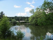 Lago a Bielefeld fotografie stock