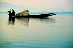 Lago Birmania (Myanmar) Inle Fotografia Stock Libera da Diritti