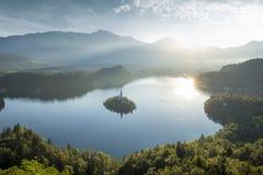 Lago blade en Eslovenia Imágenes de archivo libres de regalías