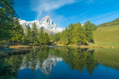 Lago Bleu (Italy, Breuil-Cervenia) Royalty Free Stock Photos
