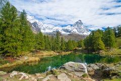 Lago Bleu jezioro Obraz Stock