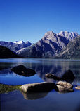 Lago blu Immagini Stock Libere da Diritti