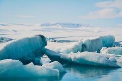 Lago blu ice Fotografia Stock Libera da Diritti