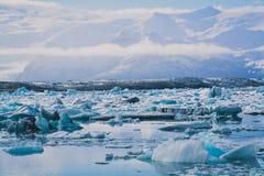 Lago blu ice Immagini Stock