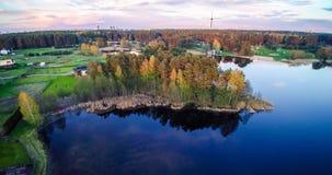 Lago blu in primavera Fotografia Stock